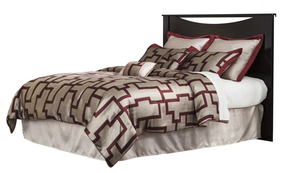 Zanbury Contemporary Merlot Wood King/Cal King Panel Headboard B217-58